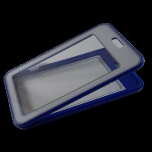 porta gafete azul vertical